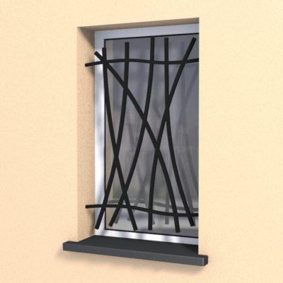 Grille de Défense pour fenêtres Lilas Ferronnerie Design