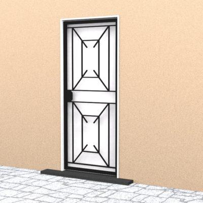 Grille ouvrante en ferronnerie simple Moderne