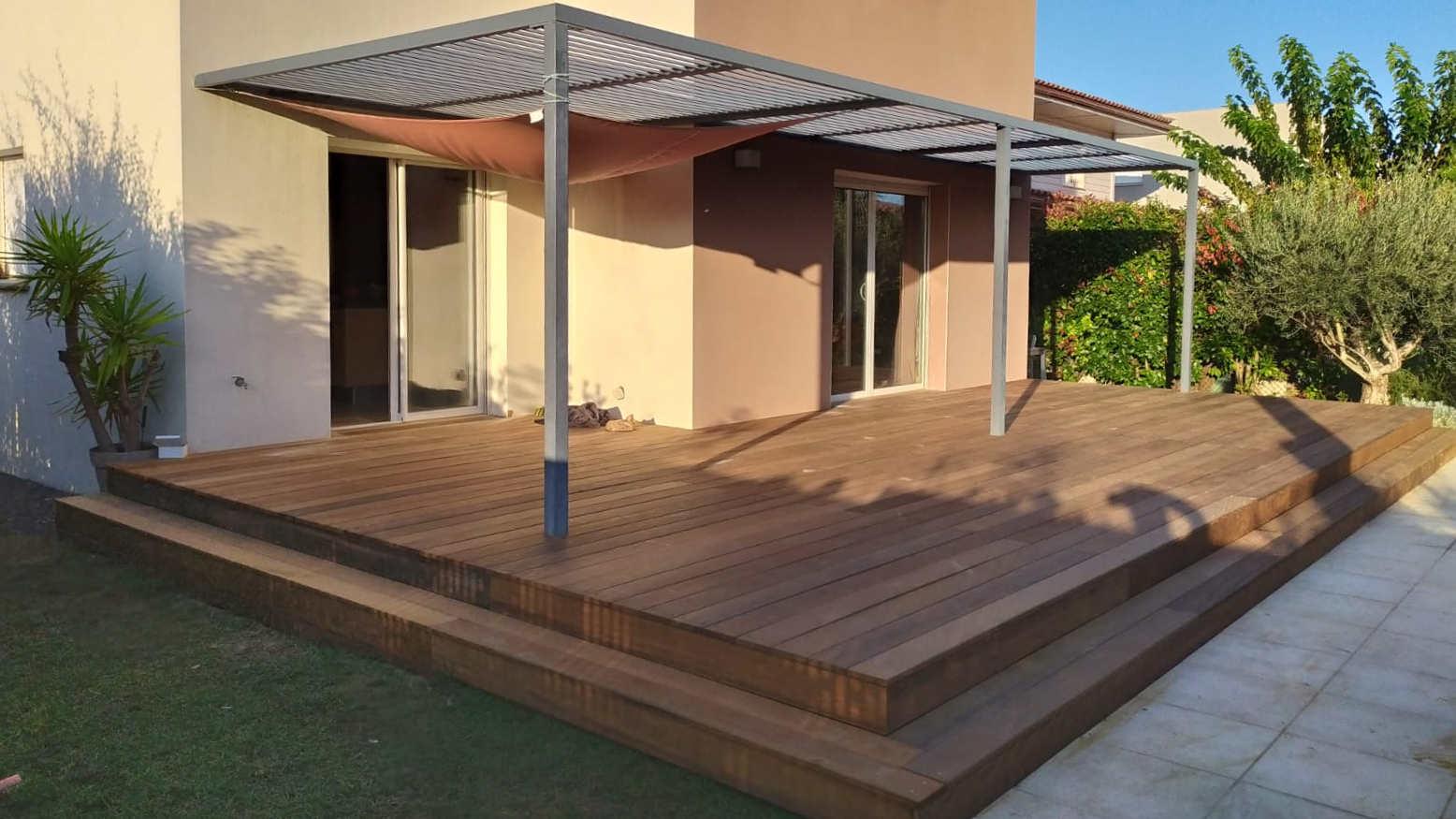 Conception terrasse fer et bois sur mesure